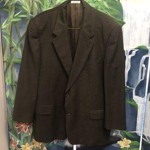 YvesSaintLaurent Mens Wool Suit Jacket Brown